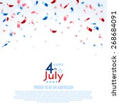 4th of july  american... | Shutterstock .eps vector #268684091