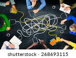 communicate communication... | Shutterstock . vector #268693115