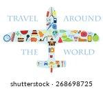 flat design style vector... | Shutterstock .eps vector #268698725