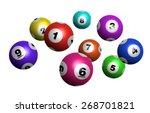 vector colorful bingo   lottery ... | Shutterstock .eps vector #268701821