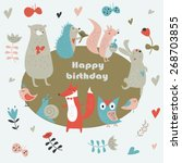 Birthday Card With Cute Owl ...