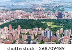 helicopter view of central park ...   Shutterstock . vector #268709489