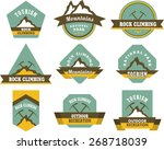 tourism badges | Shutterstock .eps vector #268718039