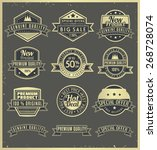 a set of retro badges and... | Shutterstock .eps vector #268728074