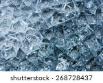 blue cracked glass texture | Shutterstock . vector #268728437