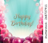 birthday card frame with... | Shutterstock .eps vector #268737911