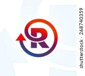 letter r logo design template. | Shutterstock .eps vector #268740359