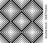seamless square pattern.... | Shutterstock .eps vector #268741661