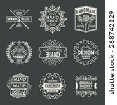 retro design insignias... | Shutterstock .eps vector #268742129
