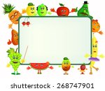colorful healthy fruit cartoon... | Shutterstock . vector #268747901