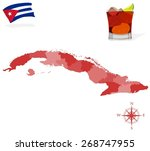 map of cuba  provinces and... | Shutterstock .eps vector #268747955