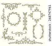 monogram design elements ... | Shutterstock .eps vector #268747961