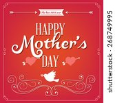 happy mothers day card vintage... | Shutterstock .eps vector #268749995