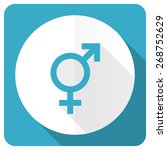 sex blue flat icon gender sign  | Shutterstock . vector #268752629