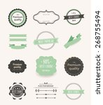 collection of labels and vector ... | Shutterstock .eps vector #268755494