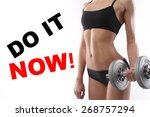 body of a young fit woman... | Shutterstock . vector #268757294