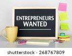 Постер, плакат: Entrepreneurs Wanted