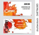 design brochure or business... | Shutterstock .eps vector #268786385