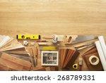 diy workbench top view with... | Shutterstock . vector #268789331