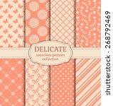 set of cute patterns.... | Shutterstock .eps vector #268792469