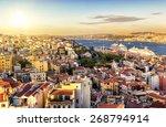 Istanbul At Sunset  Turkey....