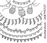 hand drawn vector garlands ... | Shutterstock .eps vector #268795727