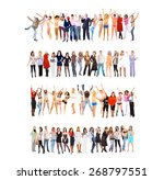 united colleagues team together    Shutterstock . vector #268797551