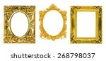 the antique gold frame on the... | Shutterstock . vector #268798037