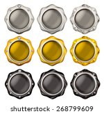 illustration of a button of the ... | Shutterstock . vector #268799609