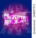 vector competitive... | Shutterstock .eps vector #268807571