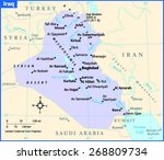 iraq country map | Shutterstock .eps vector #268809734