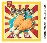 restaurant fast foods menu... | Shutterstock .eps vector #268811735