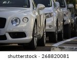 luxury cars aligned | Shutterstock . vector #268820081