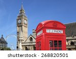 red telephone booth  big ben...