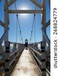 suspension bridge to point... | Shutterstock . vector #268824779