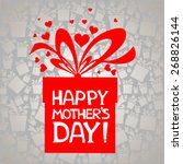 happy mother's day  greeting... | Shutterstock .eps vector #268826144