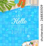 summer holidays illustration.... | Shutterstock .eps vector #268830509