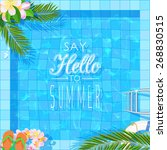 summer holidays illustration.... | Shutterstock .eps vector #268830515