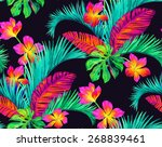 seamless floral design with... | Shutterstock . vector #268839461