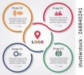 infographic report template... | Shutterstock .eps vector #268840241