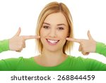 close up of a perfect woman... | Shutterstock . vector #268844459