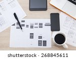 workplace developer of mobile... | Shutterstock . vector #268845611