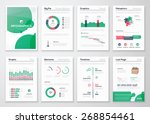 infographic business brochures... | Shutterstock .eps vector #268854461
