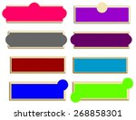 set of bright horizontal... | Shutterstock .eps vector #268858301