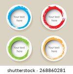 color grunge circles.grunge... | Shutterstock .eps vector #268860281