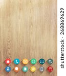 vector wood texture background...
