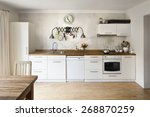 new kitchen in a very modern... | Shutterstock . vector #268870259