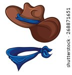 cowboy hat and scarf.... | Shutterstock .eps vector #268871651