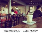 coffee cup in coffee shop  ... | Shutterstock . vector #268875509