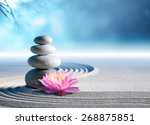 sand  lily and spa stones in... | Shutterstock . vector #268875851